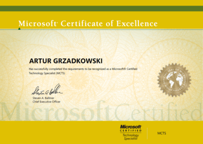 Microsoft® Certified Technology Specialist (MCTS)